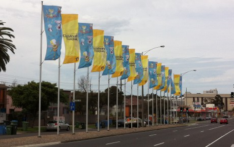 Dandenong Council 10 metre flagpoles