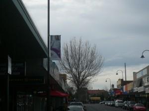 Intrack custom aluminium banner display project on Wells Street