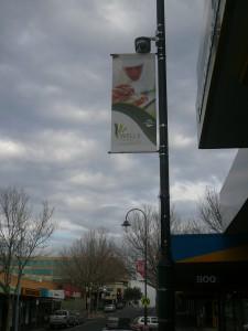 Intrack custom banner project Wells Street Frankston