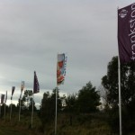 Intrack flagpole project on EastLink for Frankston