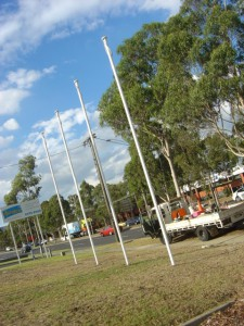 6mtr flagpole with internal halyard