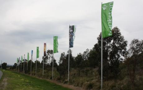 EastLink Frankston flag poles