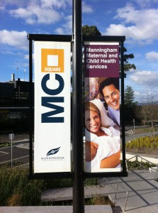 Manningham Council Square Intrack banner pole project