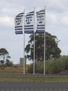 Intrack's Princes Freeway flagpoles, installed 2005