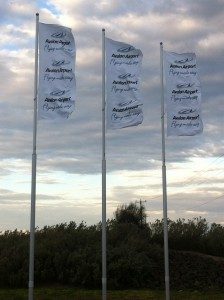 Intrack's Super Banner Pole at the Avalon Exit on Princes Freeway